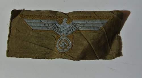 Heer Afrkakorps breast eagle