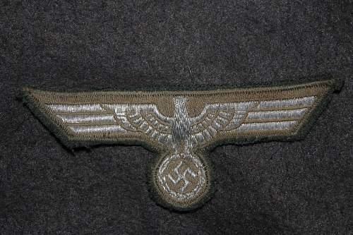Heer EM/NCO Breast Eagle help on basic questions