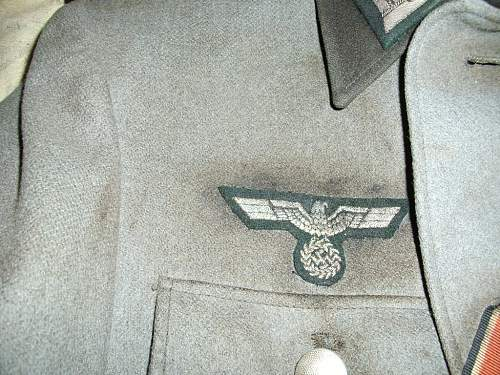 War Stained, Burned and Tattered Heer NCO Uniform???
