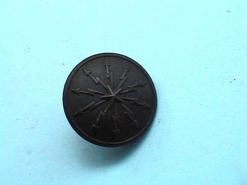 Swedish button from Hermann Goring trenches