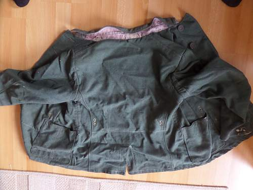 Jacket of German POW in England with letter