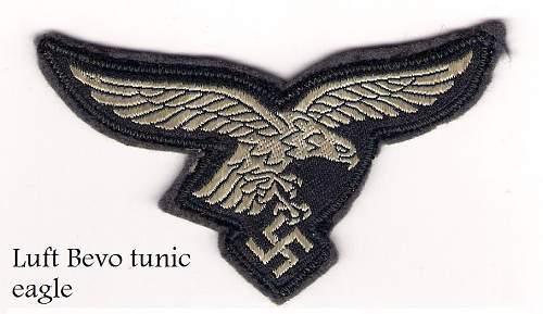 original luftwaffe breast eagle?