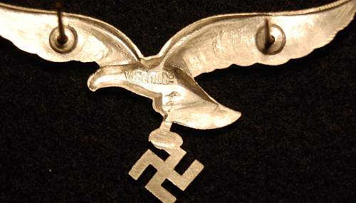 Luftwaffe Schirmutze eagle..looks too nice!
