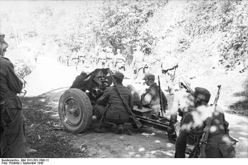 Click image for larger version.  Name:Mountain troops in Albania 1943 with a 7.5 cm le.IG 18 infantry support gun.jpg Views:44 Size:110.6 KB ID:932395