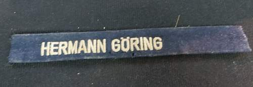 cuff title Hermann Goring ... Does it look real to you?