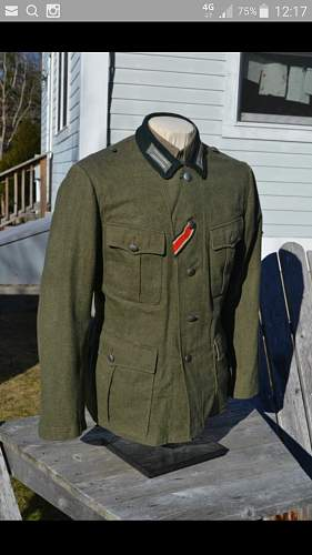 Wehrmacht M35 and M 36 tunic