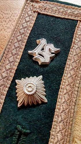 M36 Heer shoulder board with ight brown waffenfarbe