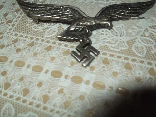 Question Luftwaffe eagle good or fake?