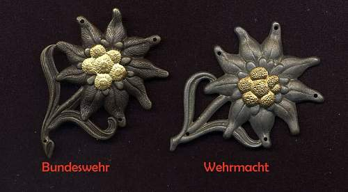Edelweiss Badge WWII or Post-War ??