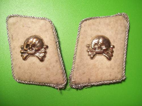 opinions please on two sets of German collar badges /patches..thanks