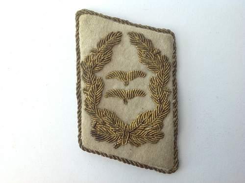 Luftwaffe Generalleutnant collar tab