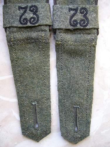 Original shoulderboards and gefreiter patch?