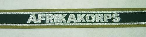 The Afrikakorps cuff title
