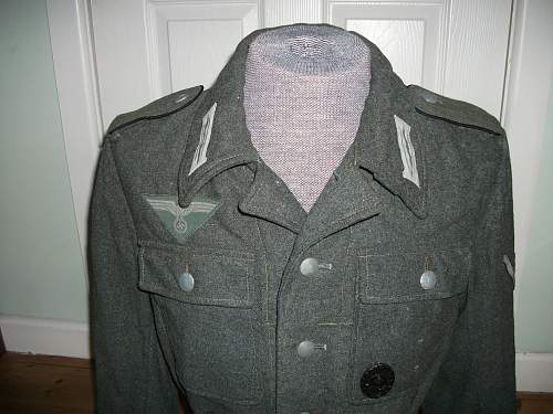 Italian cloth (green) M44 jacket (Gefreiter) for review