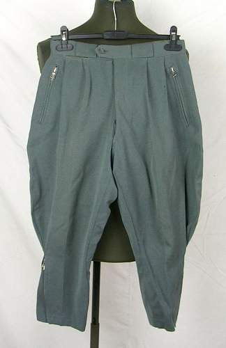 Italian made German officer trousers?
