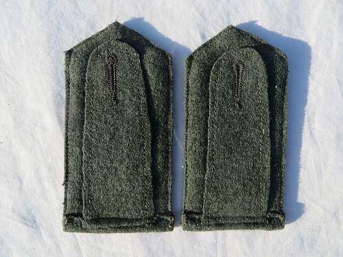 Are these Coastal Artillery shoulder boards for the great coat?