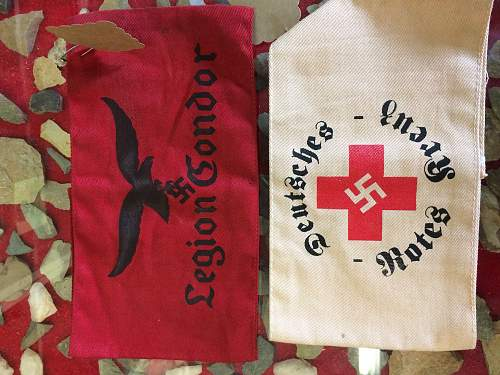 Legion Condor & Red Cross armbands
