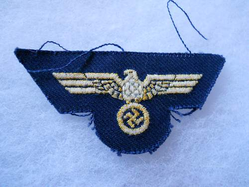 Kriegsmarine cap eagle for review