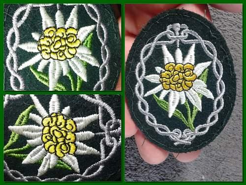 WW2 German Mountain Troop Sleeve Edelweiss Patch ??