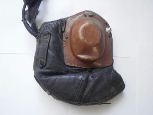 Luftwaffe winter helmet type Lkp w101 after war remake with the summer helmet.