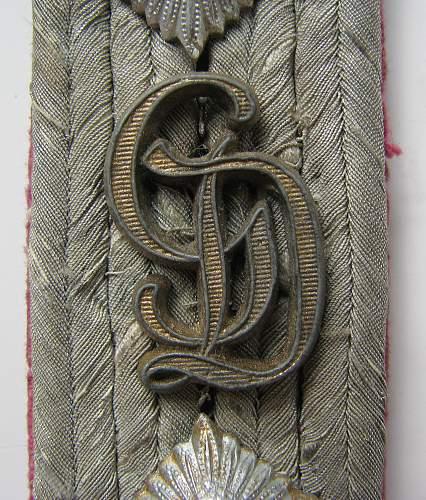 Gross Deutschland shoulder board insignia