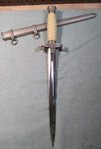 Generic A Heer dagger from US 63rd ID vet estate