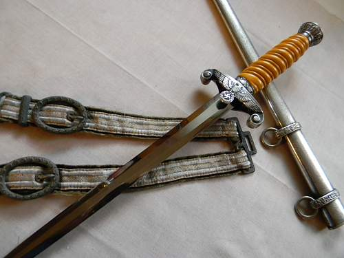 Personalized Holler dagger w/ Soldbuch and Hangers