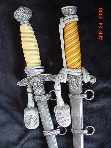 E Pack Army daggers in my Collection DJR