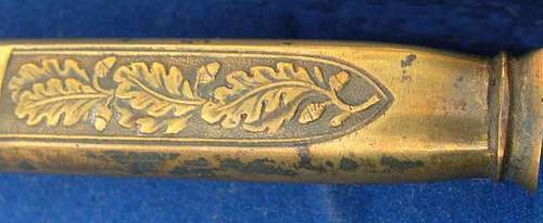 Click image for larger version.  Name:%22golden%22 Luft scabbard bottom .jpg Views:8 Size:37.2 KB ID:670046