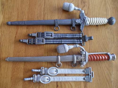 TIGER maker marks - Army daggers, Heeres Offiziersdolch