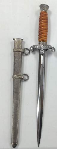 Unmarked Heer Dagger With Aluminum Fittings