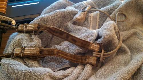 Recoered: Relic Heer dagger with knot and Hangers (MAKER?)