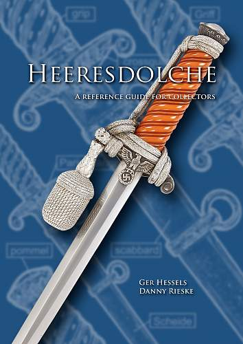 """Sneak preview Book cover of the new Army dress dagger book """"Heeresdolche"""" by Danny & Ger"""