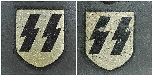 Images of two original ET SS decals
