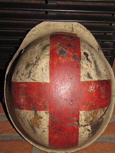 Wehrmacht medic helmet