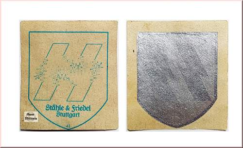 Unissued SS decal for review