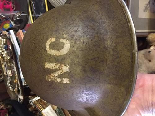 British marked helmet