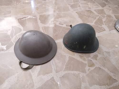 Two unknown german helmets.
