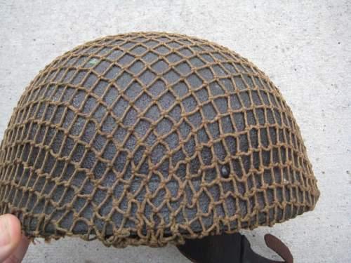 WW2 British airborne HSAT MK1 helmet (early type)