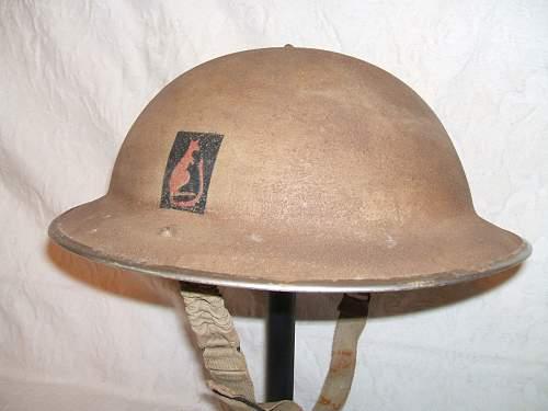 Another 'desert rats' helmet repaint on eBay