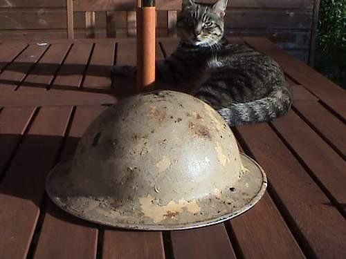 British 8th Army helmet