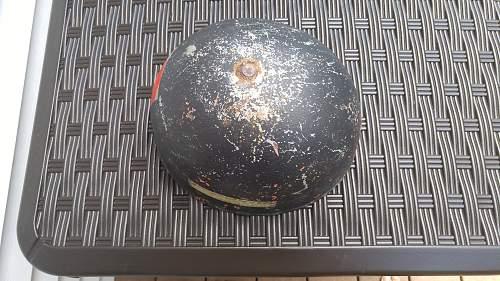 Antique show helmet