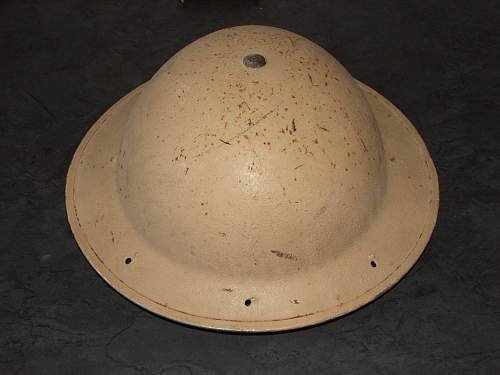 British/South African helmet North Africa