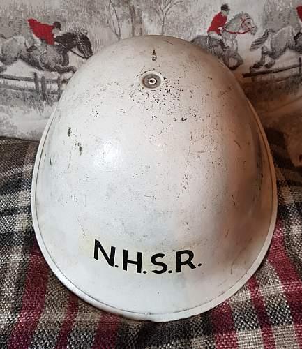 MK IV National Hospital Service Reserve Turtle Helmet