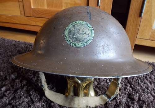 """Observer Corps """"Tommy Helmet"""""""