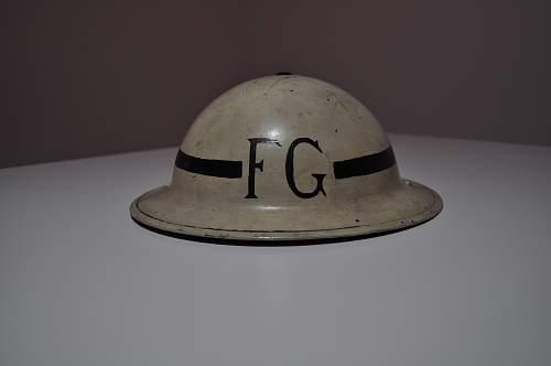 British F&L 1/1939 MK2 Brodie helmet