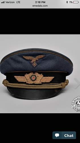 Luftwaffe General visor