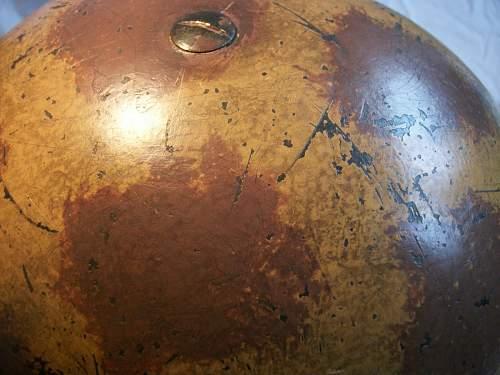 WW2 British camo helmet - original or repaint?