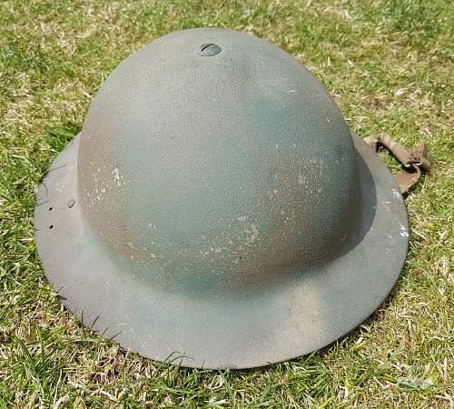 British helmet paint home guard??