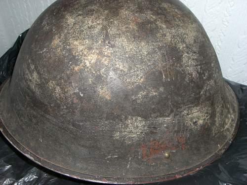 Brown-green camo with Yellow splotches, Brit Turtle helmet